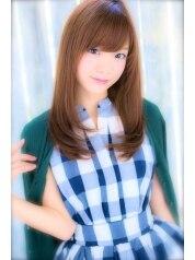 天使の輪を作る【平日限定30%OFF】潤いカラー+前髪cut+潤い艶Tr¥13500→8100