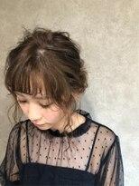 シースルーバングのローシニヨン☆