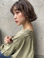 マージュ ギンザ(marju GINZA)大人ボブ毛先パーマことりベージュ