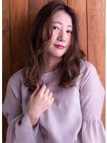 ヘアサロン リコ(hair salon lico)センターパート×無造作カール【hair salon lico】