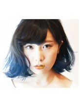 ニコ nico hairmake Blue Gradient.