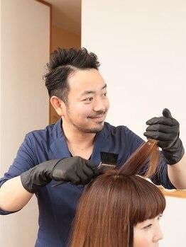 セニシエンタ(CENICIENTA)の写真/<頭皮・髪に優しく>オーガニックハーブのグレイカラーによる優しい施術◎定期的に染めてキレイを継続!!