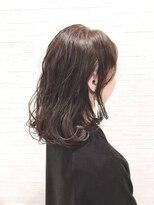 ティルヘアー(TiLL HAIR)【TiLL HAIR】ノーブリーチ 透明感グレージュ 前下がりボブ