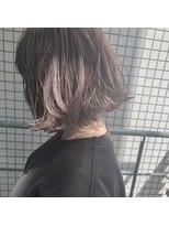 ガーデンヘアー(Garden hair)[松岡]グラデーショングレージュ☆切りっぱなしミニボブ