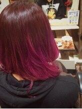 ★★★オススメ赤髪はルビーレッドの3Dグラデーション★★★