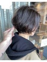 トリート ヘアデザイン 妙典店(TREAT HAIR DESIGN)前下がりボブ×カーキグレージュ_TREAT妙典