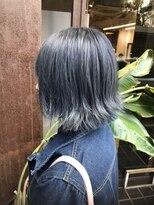コレット ヘアー 大通(Colette hair)外ハネbob&ブルーカラー