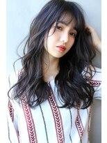 【Blanc/梅田】黒髪/無造作カール/ロング 1