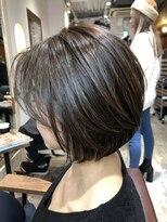 大人かわいい小顔丸みのあるショートヘア 20代30代40代 渋谷