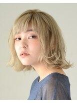 アース 恵比寿店(HAIR&MAKE EARTH)ハイトーンナチュラルボブ