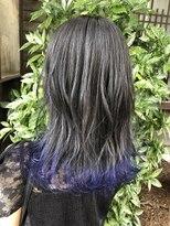 コレット ヘアー 大通(Colette hair)☆グレー×裾ブルー☆