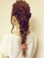 ヘアガーデンプア(Hair Garden Pua)編みこみポニーテール【松戸市常盤平駅美容室ヘアガーデンプア】