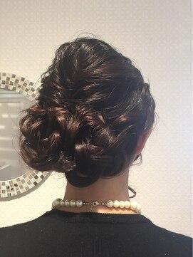 結婚式の髪型(レトロヘアアレンジ) ランジェティアラ 原宿店 Lange tiara【ランジェ】編み込みヘアセット☆