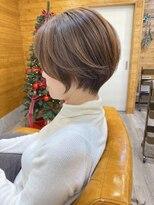 トゥーナ 表参道(tona)30代40代50代60代ショートパーマ黒髪ベージュボブルフ小顔