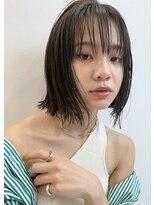 ギフト(GIFT)【GIFT】大人かわいい 外ハネボブ アッシュブラウン 黒田瞳