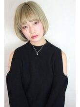 フィックスビューティーサロン エイル(Fix Beauty Salon aile)顔周りで小顔に☆甘辛ショートボブ/オリーブカラー/ミニボブ