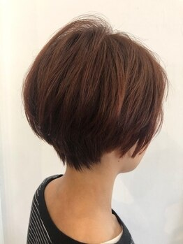ムクヘアー(MUKU HAIR)の写真/ショート・ボブなら【MUKU HAIR】!再現性が高いカット技術だから、毎朝のスタイリングも楽ちん♪