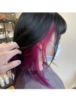 ケーオーエスビューティー(K O S beauty)インナーカラー紫ピンク