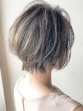 アグ ヘアー ミーア 高円寺店(Agu hair mire)《Agu hair》大人かわいいハイライトショート 小顔ボブ