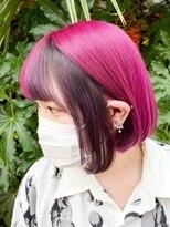 シンゴナカムラ ヘアカラーサロン(SHINGO NAKAMURA HAIR COLOR SALON)クレイジーカラー★ピンク × ポイントブラック 自然光Ver.
