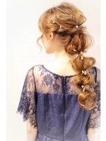 ラ ブランシュ 大宮(La Blanche)ボンボンヘアアレンジ/大宮美容室/韓国ヘア/オージュア/髪質改善