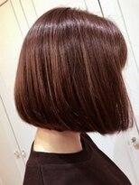アレーン ヘアデザイン(Alaine hair design)【NAOMI】フラットボブ×autumnマロンブラウン