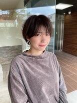 ヘアメイク シュシュ(Hair make chou chou)小顔ショートパーマ黒髪ハイライトカラー30代40代奈良大和八木