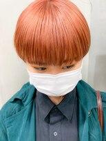 テトヘアー(teto hair)ペールオレンジ、コーラルオレンジ、マッシュショート