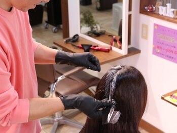 フクウヘア(fukuu hair)の写真/【リピーター多数◎】オーガニックカラーで頭皮や髪へのダメージを最小限に♪色持ち抜群でキレイをキープ☆