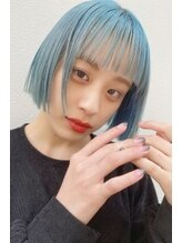 ソイ コンク バイエリカ 下北沢(soi conc by ELICA)ミニボブ×パステルブルーカラー