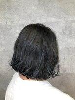 グランジュテ ヘアアンドスパ 新検見川(GRAND JETE Hair&Spa)ブルーカラー ボブ♪ [岩井麻由美]