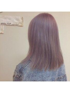 シェルターヘアールーム(SHELTER hair room)淡色ピンク。。