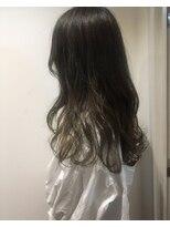 ヘアメイク オブジェ(hair make objet)暗いけど透けるグラデーションカラー