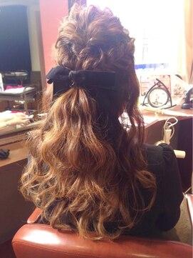結婚式 髪型 ロングヘアアレンジ ハーフアップ☆