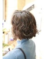 スパイラルパーマのワンレンボブ 【くせ毛に特化サロン】