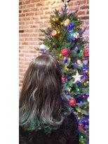 インナーカラーでクリスマスヘア