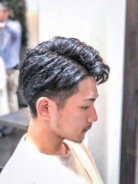 オムヘアーツー (HOMME HAIR 2)#アップバング#ビジカジ#2ブロック#サイドパート#homme2nd櫻井