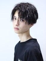 リップス 渋谷(LIPPS)黒髪前下がりスパイラルパーマ【ナソンマッシュ】