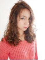 ヘアー ピープル(Hair People)黒髪耳かけ◎とろみ☆モード 大人かわいいルーズデジタルパーマ