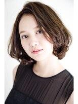 アミィヘアー(Ami Hair)毛先カール大人ツヤボブ×チョコレートグロスブラウン