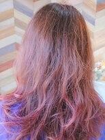 ルアナ ヘアー(Luana Hair)「LuanaHair」 女性 ツヤ髪 大人 チェリーピンク Aライン