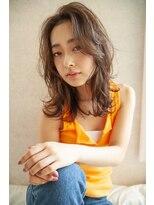 LAUREN☆小顔フリンジウェーブ×ココアブラウン☆tel0112328045