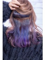 ヘアーメイク ダンス(hair make DANCE)ブルーからバイオレットのグラデーション
