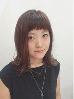 ニコ ヘアーアンドメイク(nico hair&make)ミディアム◇ショートバング