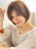 《Agu hair》王道☆大人かわいい小顔ショートボブ