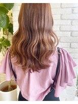 ロンドプランタン 恵比寿(Lond Printemps)オレンジカラー×ふんわりミディアムヘア