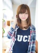 ソフトヘアカッターズ(soft HAIR CUTTERS)厚めバング☆小顔フェミニンハニーヘア
