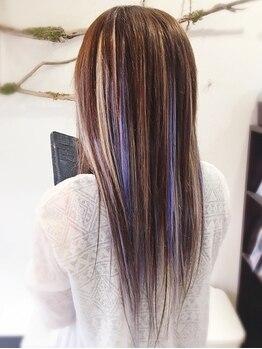 ヘアセットサロンエッジ(Edge)の写真/[顔周りにちょこっと20g¥4400~]自毛を傷ませず特殊カラーを楽しむ♪さりげない調整~大胆イメチェンも◎