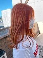 #オレンジブラウン#オレンジカラー#くすみピンク#暖色系カラー
