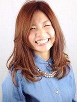ヘア デザイン クリニック アンテナ(hair design clinic ANTENNA)毛先カールのモテセミロング♪